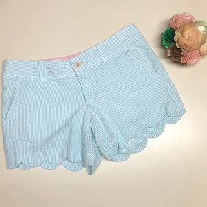 Lilly Pulitzer Shorts - Lilly Pulitzer Seersucker Scalloped Shorts 2